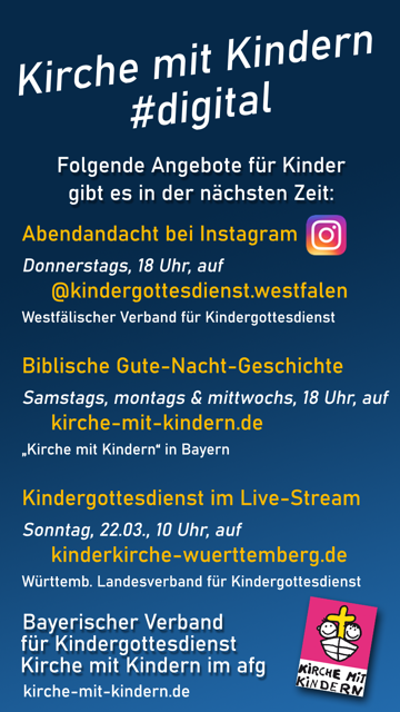 Kindergottesdienst Angebot Digital
